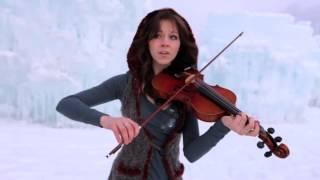Девушка во льдах очень красиво играет на скрипке под дабстеп Видео Скрипка