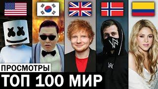 ТОП 100 МИРОВЫХ клипов 2005-2020 по ПРОСМОТРАМ | Лучшие зарубежные песни и хиты | Апрель 2020