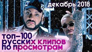 ТОП-100 РУССКИХ КЛИПОВ ПО ПРОСМОТРАМ ДЕКАБРЬ 2018