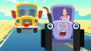 Лапатушки - Детские песни - Сборник про трактор Врум, про автобус машинки самолет и велосипед