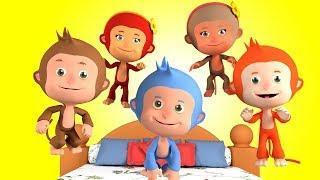 Пять Маленьких Обезьянок Учимся считать Детские песни