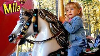 Лимонадный Дождик Детские Песни Большая Карусель Лошадки Аттракцион для Детей