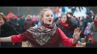 Русский народный флешмоб - 3 на масленице в Захарово