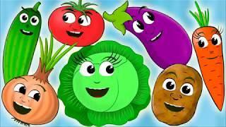 Учим овощи - Развивающий мультфильм - Овощи -  Детская песня - песенка про овощи.